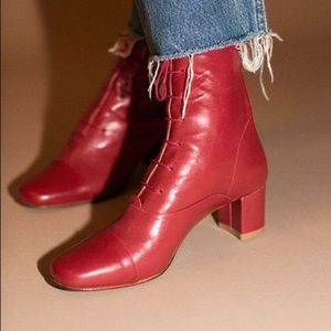 By Far Red Lada Lace-up Boots